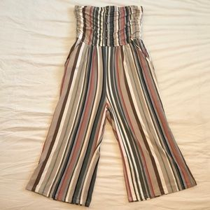NWOT Striped Capri jumpsuit